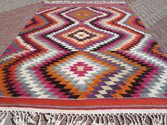 "Anatolian Turkish Classic Antalya Kilim 87,7"" X 122"" Area Rug Kelim Carpet #Turkish"