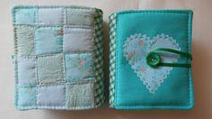 Green Patchwork Needlebook  Needle holders. by MayhemUK on Etsy