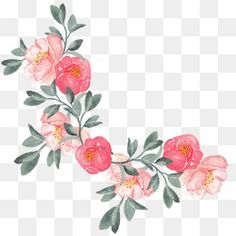 hand-painted flowers, Flowers, Hand Painted, Hand-painted Flowers PNG Image and Clipart Free Watercolor Flowers, Watercolor And Ink, Flower Png Images, Floral Border, Arte Floral, Flower Backgrounds, Flower Wall, Printable Wall Art, Flower Designs