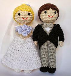 Crafteando, que es gerundio: ¡Los amigurumis de mi pastel de boda!
