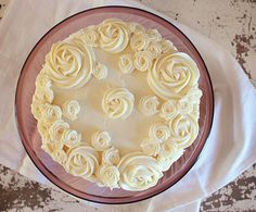 Chunky Carrot Cake with Cream Cheese Rosettes!