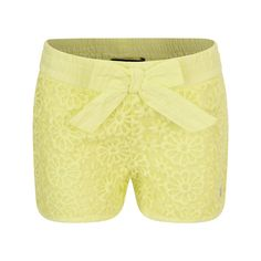 DKNY Girls Lime Embroidered Flower Shorts