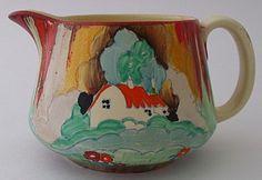 Superb Clarice Cliff Forest Glen Cottage Landscape Crown Jug 1930s Art Deco | eBay offered for $527.55