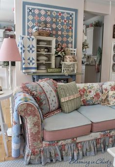 About Living Room On Pinterest Floral Sofa Slipcovers And Sofas