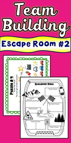 """The Team Building 2 Escape Room will take students on a """"Speedway"""" around the classroom! This Team Building 2 Escape Room has students decode fun puzzles using teamwork and critical thinking while trying to beat the clock. This is the perfect resource for back to school activities, team building, end of year, ice breakers or any time!"""