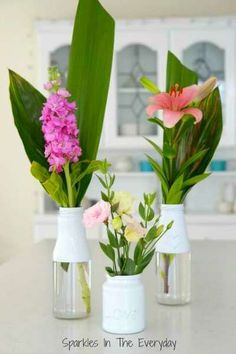 DIY - How to Recycle Bottles to Beautiful Flower Vases! for hospital shut ins