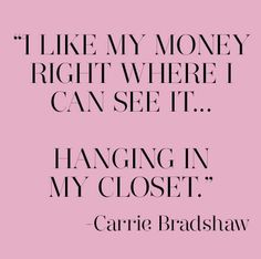 We are feeling Carrie's wisdom!