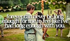 Forever can never be long enough for me to feel like I've had long enough with you #love #lovequote marry me-train.