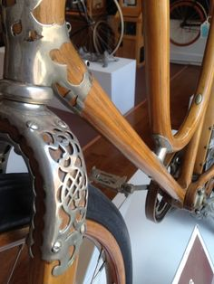 Custom bicycle frames made from wood; hand-built by master craftsman Jay Kinsinger of Sojourner Cyclery. Bamboo Bicycle, Wooden Bicycle, Wood Bike, Tricycle, Touring Bike, Bicycle Parts, Bike Frame, Bike Art, Bicycle Design