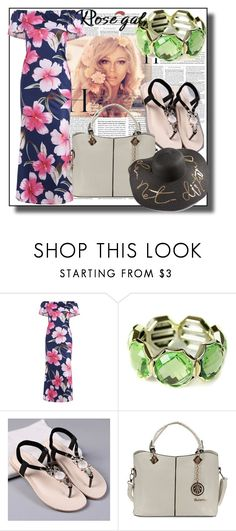 """Floral Maxi Dress-62"" by nihada-niky ❤ liked on Polyvore featuring women, fashionset and rosegal"