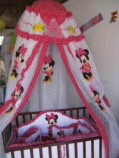 L Baby Girl Crib Bedding, Baby Bedding Sets, Baby Cribs, Purple Bedroom Decor, Girls Furniture, Baby Shower Treats, Crochet Basket Pattern, Crochet Home Decor, Mickey Minnie Mouse