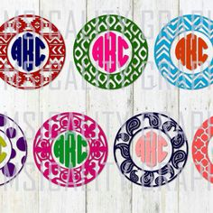 Perfect digital files to choose a variety of fun circle patterns for your friends and family's monogram shirts! From Aztec and paisley to fleur-de-lis and Polka dot. There is something for everyone.