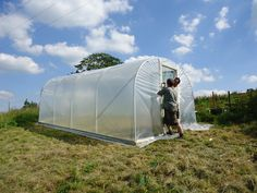 How to build your own Premier Polytunnel to grow food all year round. #DIY