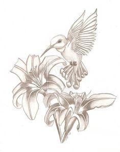 hummingbird and hibiscus tattoo   Art Tattoo Collection: Tattoo Designs by Louis McKnight