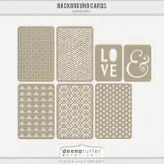 Background Cards -- Deena Rutter, Pixels and Company