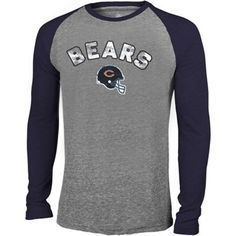 Mens Chicago Bears Antigua Navy Blue Volt Crew Sweatshirt
