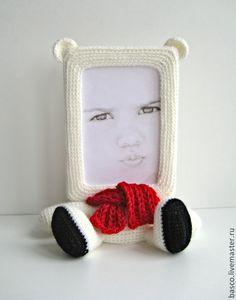 """Купить Фоторамка """"Белый мишка"""" - девочке, девушке, милый подарок, милая игрушка, фоторамка"""