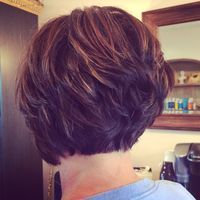 So into short hair right now! Razored bob with lots of texture, and color by me :-) sugarsalonspa.com