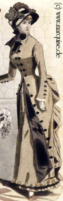 Walking Dress, March 1883