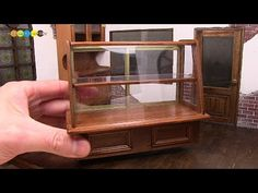 DIY Dollhouse items - Miniature Wooden showcase ミニチュア木製ショーケース作り - YouTube
