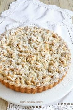 Crostata alle Mandorle e Crema Great Desserts, Vegan Desserts, Delicious Desserts, Dessert Recipes, Gourmet Recipes, Sweet Recipes, Cooking Recipes, Cake Cookies, Cupcake Cakes