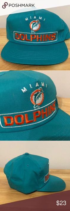 Vintage NFL Miami Dolphins Hat Vintage NFL Miami Dolphins Hat, Brand New, Never Worn or Used, ⚡️WILL SHIP IN ONE DAY⚡️All bundles of 2 or more receive 20% off. Closet full of new, used and vintage Vans, Skate and surf companies, jewelry, phone cases, shoes and more. NFL Accessories Hats