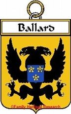 Ballard French Coat of Arms Print Family History Crest