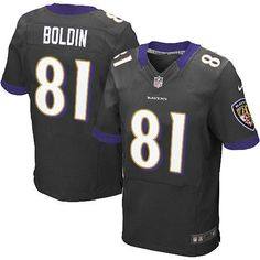 Nike NFL Baltimore Ravens 81 Anquan Boldin Elite Black Alternate Jersey Sale