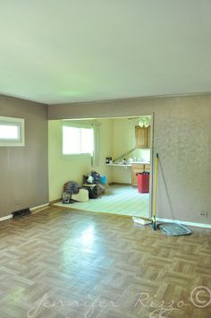 See how this is transformed to a light and bright cottage living room.... - Jennifer Rizzo