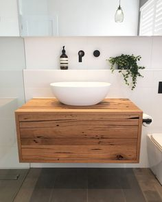 "232 Likes, 22 Comments - Bespoke Timber Design (@bespoketimberdesign) on Instagram: ""Love this! Amazing bathroom by @troykoop featuring a Bespoke floating recycled Messmate vanity.…"""