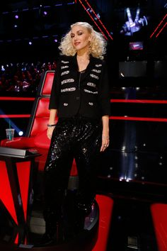 Gwen's Gilded Glamour look on The Voice