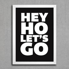 Poster Ramones Hey Ho Lets Go II - Encadreé Posters