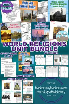 Ready to Teach Your Students About the World Religions? Stop By and See Our World Religions Unit Bundle, Packed with the Materials You Need to Make Your Lessons Fun, Engaging and Worthwhile for Your Class! Best for Grades 9-12.