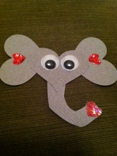 Favorite Things and Then Some: Elephant Valentine Craft Tutorial