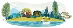 Jean-Jacques Rousseau's 300th Birthday [300 лет со дня рождения Жан-Жака Руссо] /This doodle was shown: 28.06.2012 /Countries, in which doodle was shown: Belgium, France