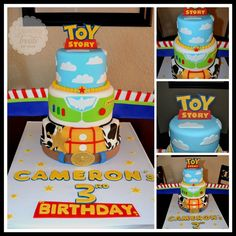 Toy Story Cake! This is the second time I make this design but made a few changes to it including a hand made logo :)