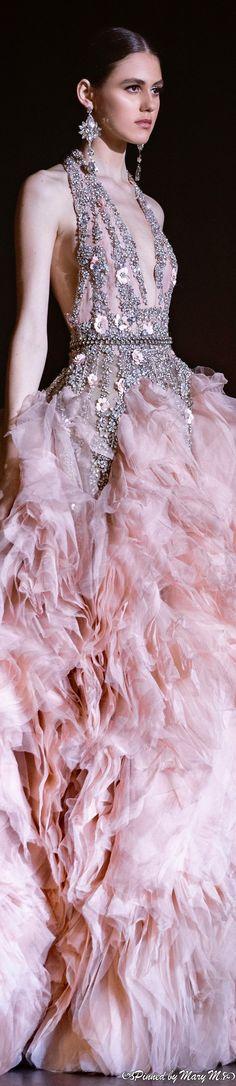 Haute Couture Paris, Elie Saab Couture, Haute Couture Fashion, French Fashion, Pink Fashion, Runway Fashion, Women's Fashion, Elie Saab Spring, Ellie Saab