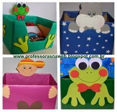 4caixas 2 Jpg 600 573 Preschool Classroom Decor Bulletin Board Decor Classroom Decor