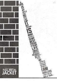 Lucie Livia - Full Metal Jacket - Kubrick et le Web - La Cinémathèque française Marvel Movie Posters, Minimal Movie Posters, Film Posters, Retro Posters, Music Posters, Creative Poster Design, Creative Posters, Awesome Posters, Poster Designs