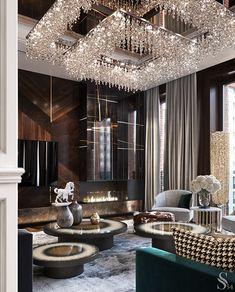 Luxury Living Room Designs - Aren Home Decor Luxury Homes Interior, Luxury Home Decor, Modern Interior Design, Lobby Design, Luxury Furniture, Rustic Furniture, Modern Furniture, Antique Furniture, Furniture Layout
