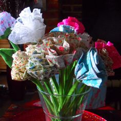 Fabric flowers, simple pretty and everlasting x