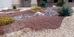 Simple way to add different colors and textures to a desert yard, different sands, dirts, pebbles, and gravels.