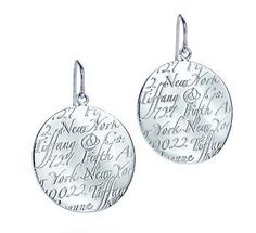 Tiffany & Co Outlet Notes Round Earrings #jewellerydesign