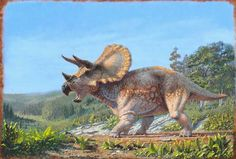 "*Triceratops. ""Defending Ground"" Art by Jason Ward."