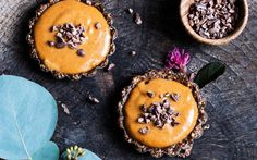 "The ""caramel"" filling in these tarts have a pretty convincing flavor with delightful tahini and peanut butter tones, and a relatively thicker consistency."