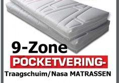 Pocketvering 9 Zone Nasa- traagschuim ® Matrassen