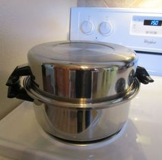 Ashcraft-West-Bend-304-6-Qt-Dutch-Oven-Stock-Pot-Dome-Lid-Cookware-Cool-Handles