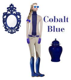 """Cobalt blue"" by stylemyride on Polyvore featuring Hermès, Jonathan Saunders, Giorgio Armani, Matthew Williamson, Kravet and Dot & Bo"