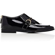 Stella McCartney Women's Buckle-Strap Loafers (9.775.405 IDR) ❤ liked on Polyvore featuring shoes, loafers, colorless, clear flats, stella mccartney flats, stella mccartney, loafer flats and clear flats shoes