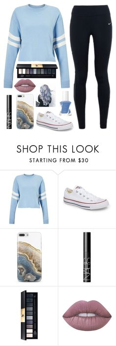 """Shoutout To @seraphina10 RTD"" by juneisbest ❤ liked on Polyvore featuring Miss Selfridge, NIKE, Converse, Nanette Lepore, NARS Cosmetics, John Lewis, Lime Crime and Essie"